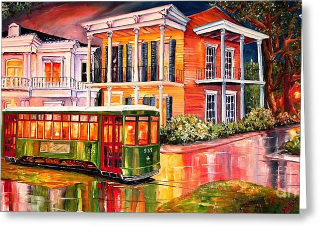 Twilight In The Garden District Greeting Card by Diane Millsap