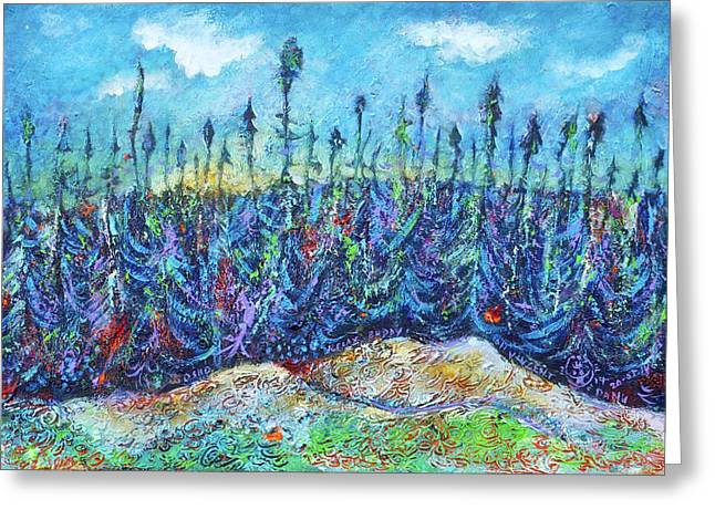 Twilight In The Taiga Greeting Card by Ion vincent DAnu