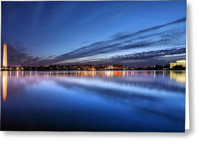 Blue Hour Greeting Cards - Twilight  Greeting Card by JC Findley