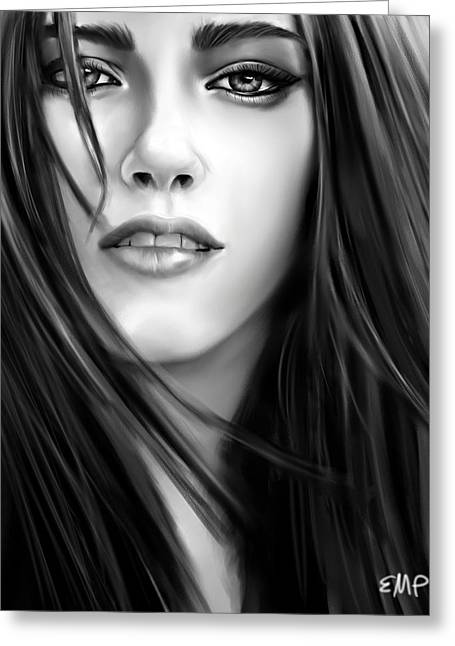Twilight-kristen Stewart Greeting Card by Lisa Pence