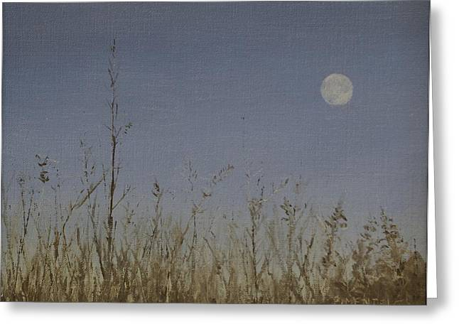 Twilight Moon Greeting Card by Mark Pimentel