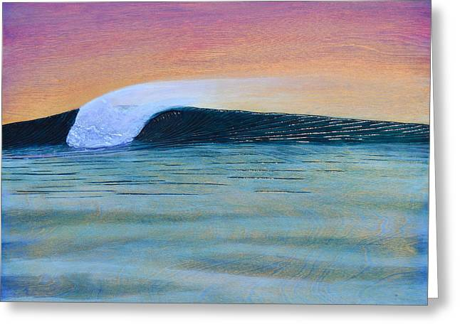 Wood Carving Greeting Cards - Twilight Offshores Greeting Card by Nathan Ledyard