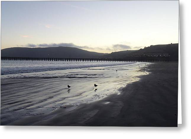 Beach At Night Greeting Cards - Twilight on the Beach Greeting Card by Jan Moore