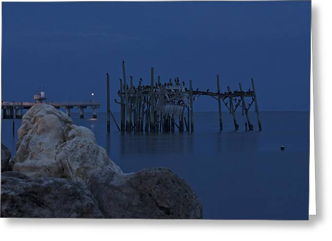 Cedar Key Greeting Cards - Twilight on the Gulf Greeting Card by Penny Meyers