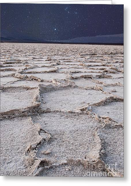 Landforms Greeting Cards - Twilight on the Salt Flats Greeting Card by Juli Scalzi