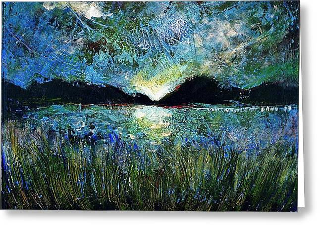 Ion Vincent Danu Greeting Cards - Twilight Over a Transylvanian Lake Greeting Card by Ion vincent DAnu