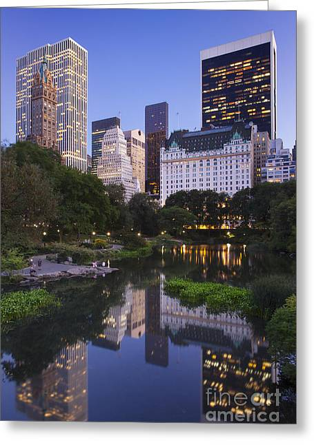 Midtown Greeting Cards - Twilight over Central Park Greeting Card by Brian Jannsen