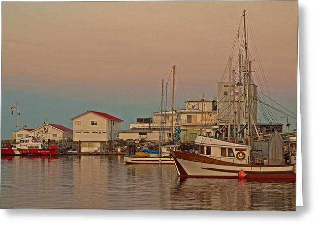 French Creek Marina Greeting Cards - Twilight Greeting Card by Randy Hall