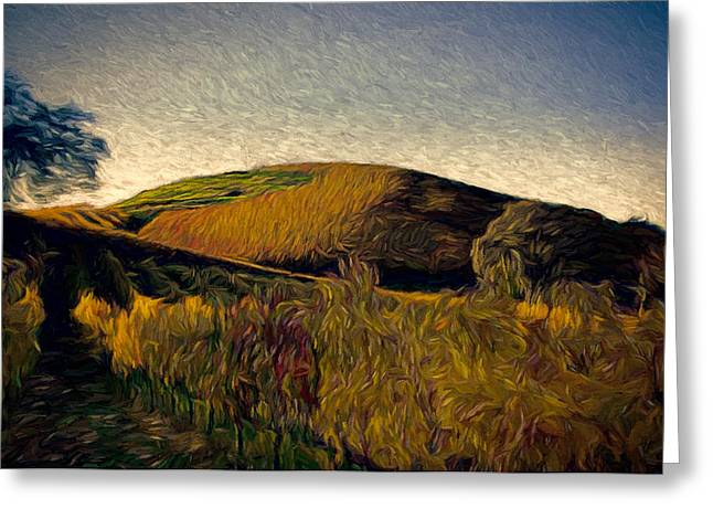 Sonoma Mixed Media Greeting Cards - Twilight Rows Greeting Card by John K Woodruff