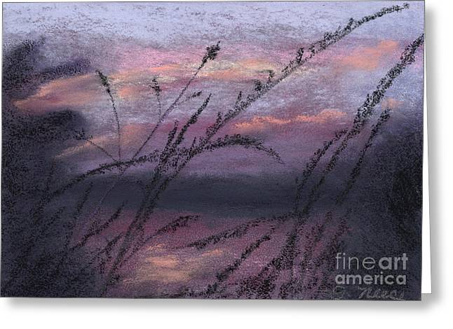 Twilight Pastels Greeting Cards - Twilight Silhouette Greeting Card by Ginny Neece