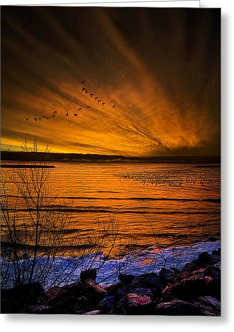 Geographic Greeting Cards - Twilight Sonnet Greeting Card by Phil Koch