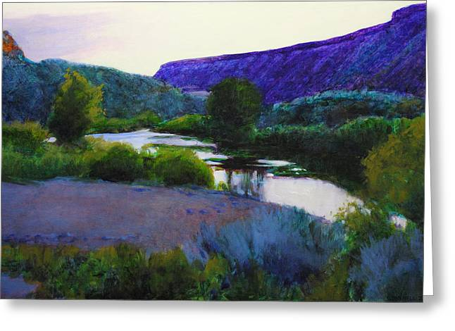 Water Framed Prints Greeting Cards - Twilight Taos Greeting Card by Cap Pannell