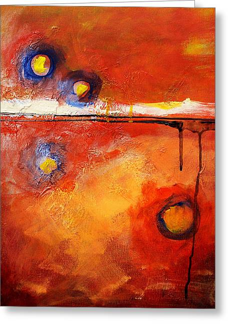 Abstract Expression Greeting Cards - Twilight Time Greeting Card by Nancy Merkle