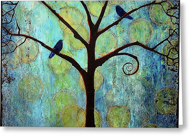 Twilight Tree of Life Greeting Card by Blenda Studio
