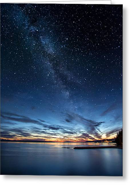 Twilight Twinkle Greeting Card by Pierre Leclerc Photography