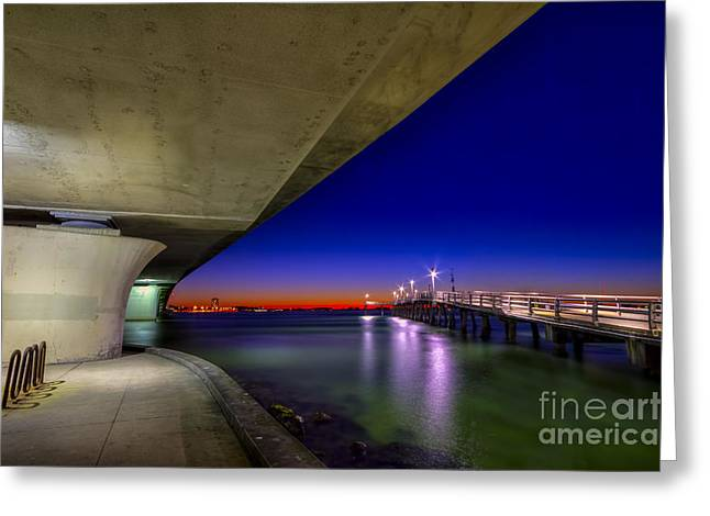 Bay Bridge Greeting Cards - Twilight Zone Greeting Card by Marvin Spates