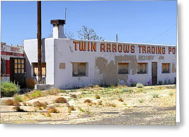 Gas Station Greeting Cards - Twin Arrows Trading Post Greeting Card by Mike McGlothlen