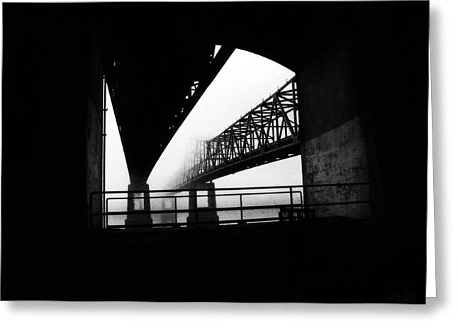 Twin Bridges Greeting Card by Leon Hollins III