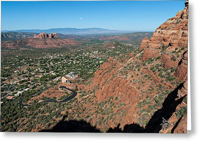 Cathedral Rock Digital Greeting Cards - Twin Buttes 04-058 Greeting Card by Scott McAllister