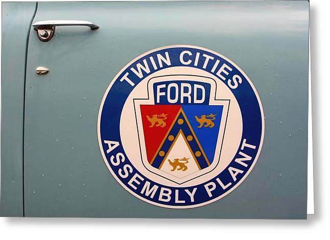 Minnesota Licence Plates Greeting Cards - Twin Cities Assembly Plant Ford Greeting Card by Amanda Stadther