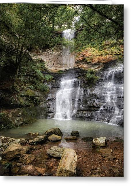 James Barber Greeting Cards - Twin Falls Greeting Card by James Barber