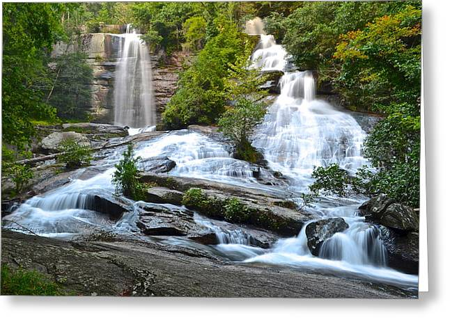 Tremendous Greeting Cards - Twin Falls Greeting Card by Frozen in Time Fine Art Photography