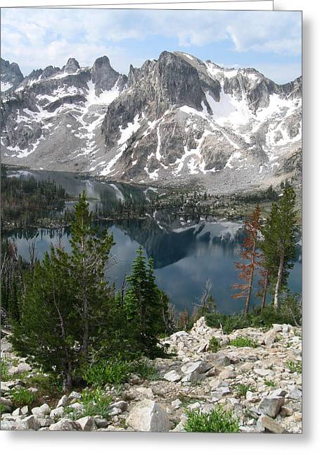 Featured Art Greeting Cards - Twin Lakes Idaho Greeting Card by Chris Harman