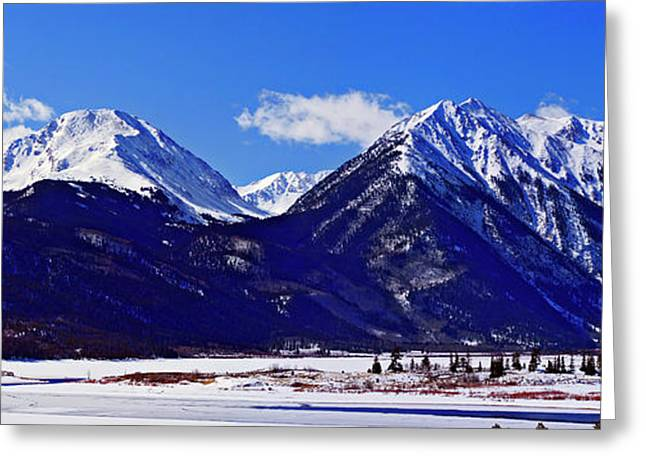 Jeremy Greeting Cards - Twin Lakes Panorama Greeting Card by Jeremy Rhoades