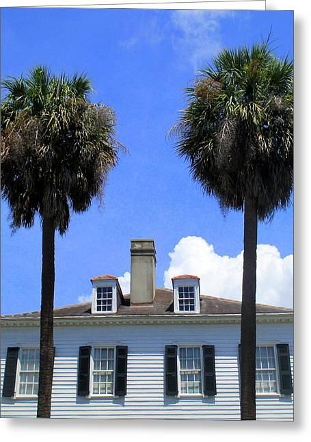 Historic Architecture Greeting Cards - Twin Palms South Battery Greeting Card by Randall Weidner