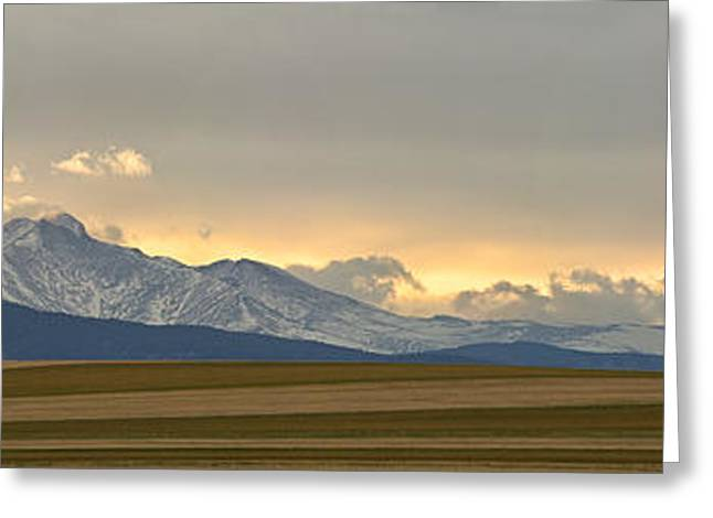 Twin Peaks Greeting Cards - Twin Peaks Panorama View from the Agriculture Plains Greeting Card by James BO  Insogna
