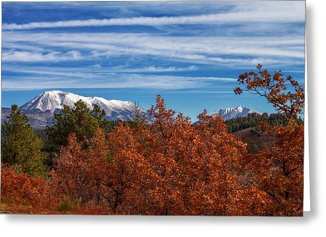 Spanish Peaks Greeting Cards - Twin Peaks Greeting Card by Sean Ramsey