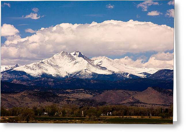 Longmont Greeting Cards - Twin Peaks Snow Covered Greeting Card by James BO  Insogna