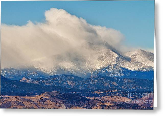 Gifts Greeting Cards - Twin Peaks Winter Weather View  Greeting Card by James BO  Insogna