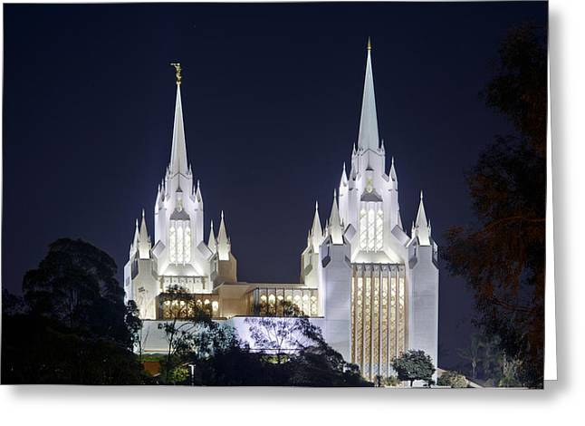 Recently Sold -  - Night Angel Greeting Cards - Twin Spires Greeting Card by Kevin  Ellis