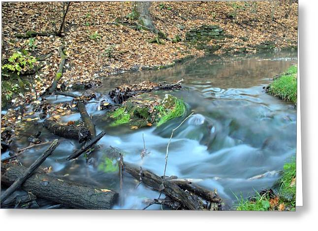 Babbling Greeting Cards - Twin Springs Source Greeting Card by Bonfire Photography