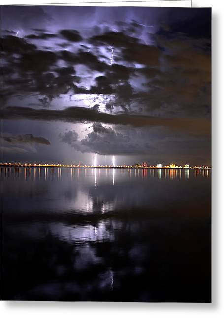 Florida Landscape Photography Greeting Cards - Twin Strikes Greeting Card by David Lee Thompson
