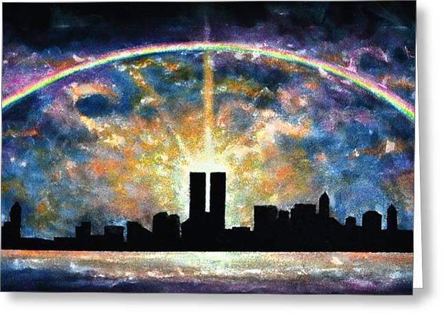 Twin Towers Live Again Greeting Card by Thomas Kolendra
