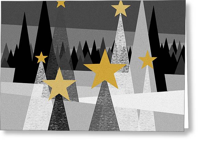 Twinkle Lights Greeting Card by Val Arie