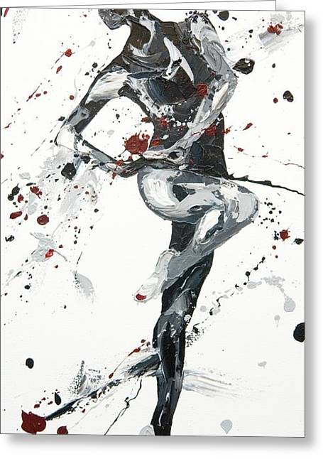 Ballet Dancers Paintings Greeting Cards - Twist Greeting Card by Penny Warden