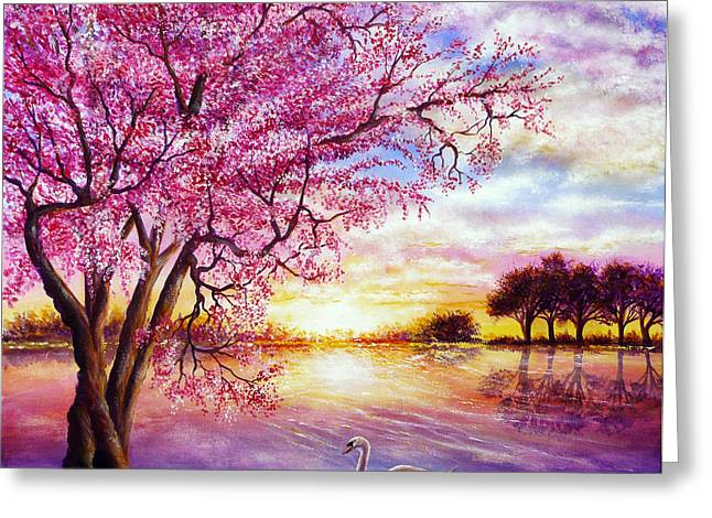 Kinkade Greeting Cards - Twisted Blossom Greeting Card by Ann Marie Bone