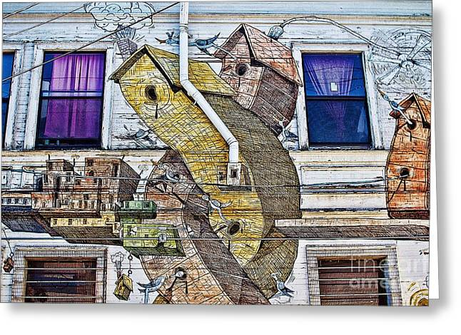 Plight Greeting Cards - Twisted Building Greeting Card by Andrew Brooks