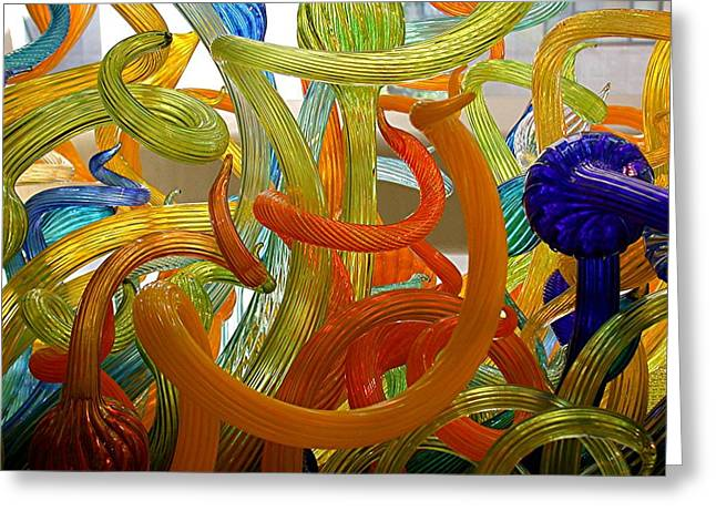 Recently Sold -  - Vince Greeting Cards - Twisted Glass Greeting Card by Vince McCall
