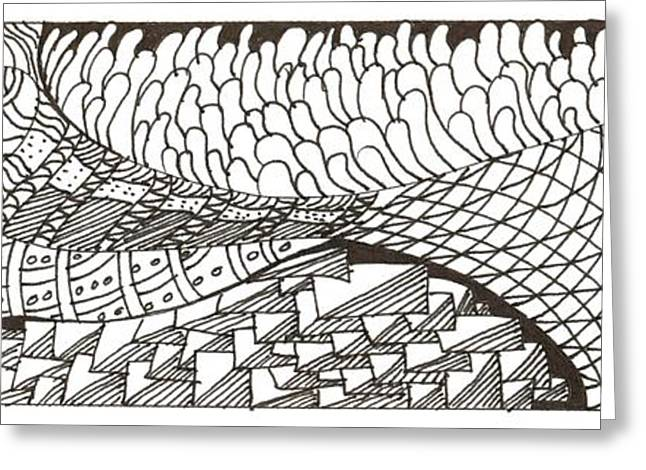White Drawings Greeting Cards - Twisted Landscape Greeting Card by Kendall Banks