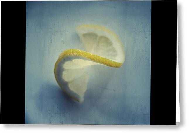 Kitchen Greeting Cards - Twisted Lemon Greeting Card by Ari Salmela