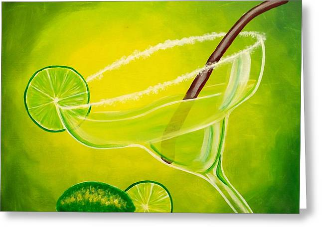 Recently Sold -  - Darren Greeting Cards - Twisted Margarita Greeting Card by Darren Robinson