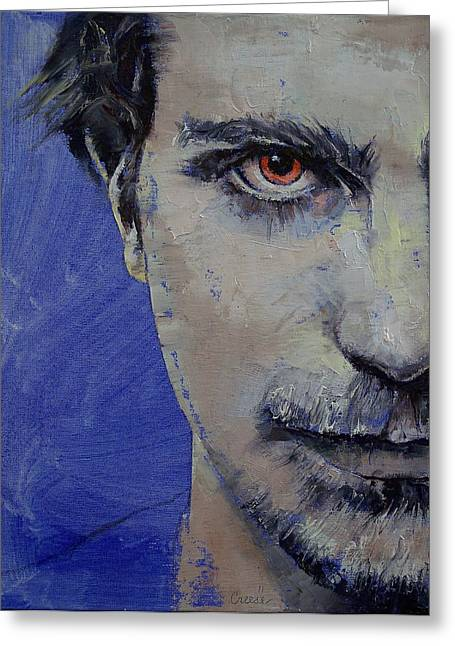 Mann Greeting Cards - Twisted Greeting Card by Michael Creese
