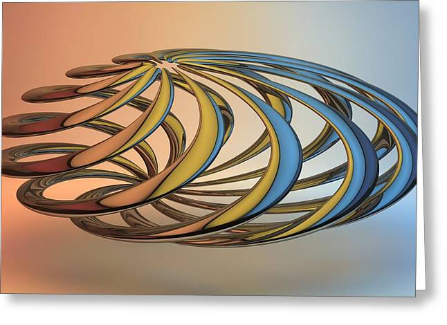 Louis Ferreira Art Greeting Cards - Twisted Reflections Greeting Card by Louis Ferreira