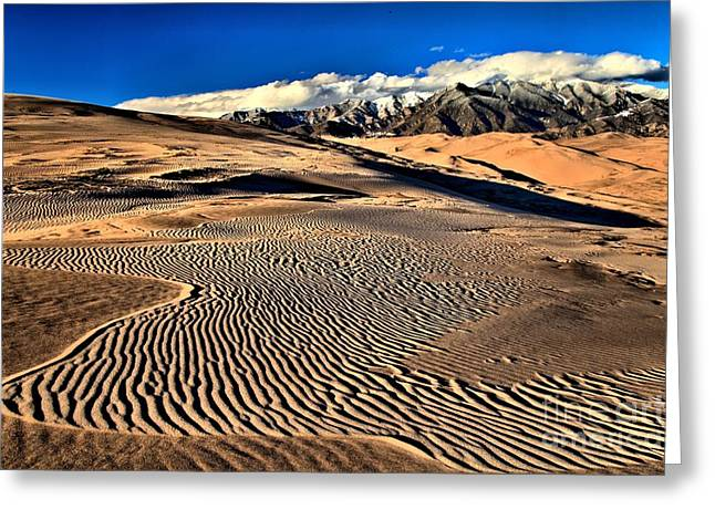Large Sand Dunes Greeting Cards - Twisted Ripples Greeting Card by Adam Jewell