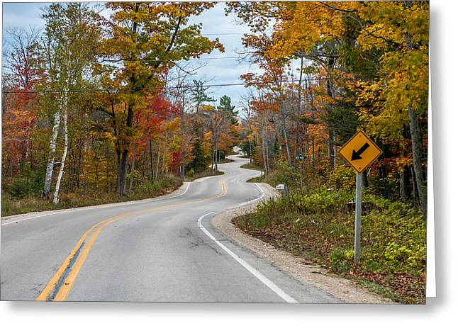 White Pine County Greeting Cards - Twisted Road Greeting Card by Paul Freidlund