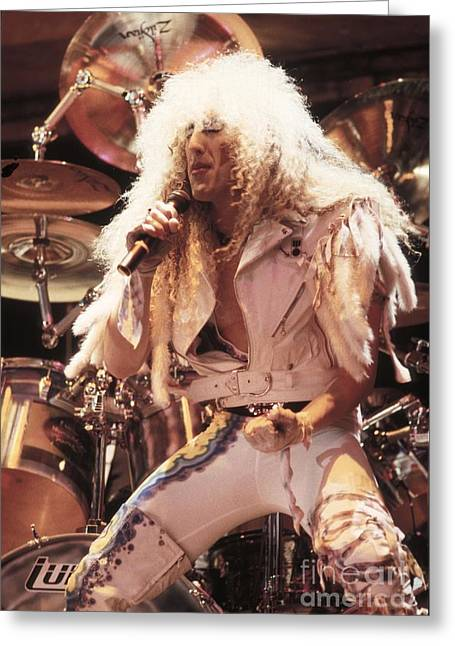 Snider Greeting Cards - Twisted Sister - Dee Snider Greeting Card by Front Row  Photographs